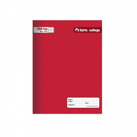 CUADERNO COLLEGE TORRE LISO MAT. 7MM. 100 H