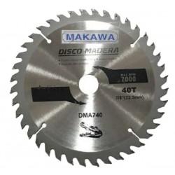 "DISCO SIERRA PARA MADERA 7-1/4"" X40T MAKAWA"