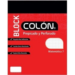 BLOCK COLON CARTA MAT 7MM BC-32/80
