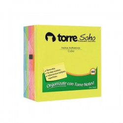 TORRE NOTES CUBO 7,6X7,6 CM 400 HJS