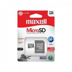 MEMORIA MAXELL MICRO SDHC 64GB CL10 CON ADAPTADOR