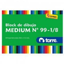 BLOCK DIBUJO MEDIO 99 IMAGIA TORRE