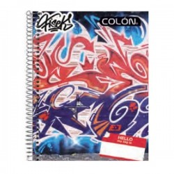 CUADERNO TOP GRAFITTI 7 MM 150 HJS COLON