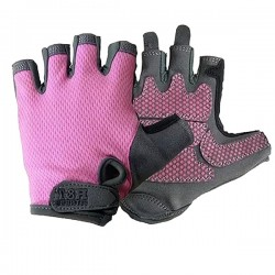GUANTES MUJER ROAD & TRIAL COLORES LILA S-M-L TEKNO