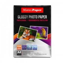 PAPEL FOTOGRAFICO GLOSSY ADHESIVO PAPER 4A 210 GRS 20 UND