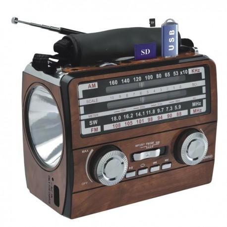 RADIO LINTERNA AM-FM / BLUETOOTH/USB/SD-RECARGABLE MARCA GLC