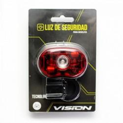 LUZ TRASERA LED VISION ULTRA BRILLO 05 W PILAS AAA CON SOPORTE ANDES