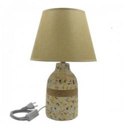 LAMPARA DE VELADOR CERAMICA PIGMENTOS 34 CM MULI