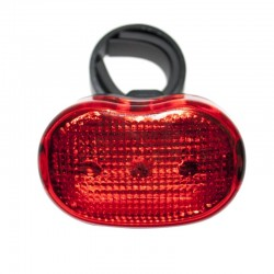 LUZ LED TRASERA ROJA FLASHER A PILA JY-006T-5 5 LED ANDES