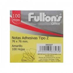 NOTA ADHESIVA POP-UP 654 76X76 MM 100 HJS AMARILLO PASTEL FULTONS
