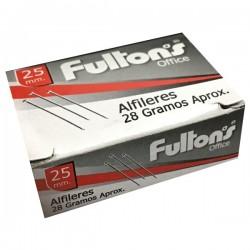 ALFILER METALICO 25 MM. CROMADO 28 GR. OFFICE FULTONS