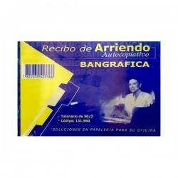 RECIBO DE ARRIENDO AUTOCOPIATIVO BANGRAFICA 50-2