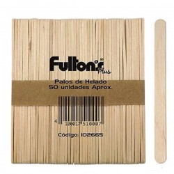 PALOS DE HELADO NATURAL APROX. 50 UN FULTONS